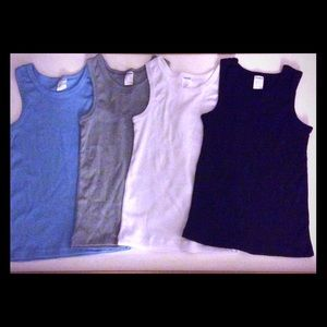 Other - Set Of 4. 💯 % cotton boy's tank tops 5T